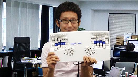 神山さんのキーボード