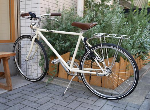 奥さんもライナスの自転車