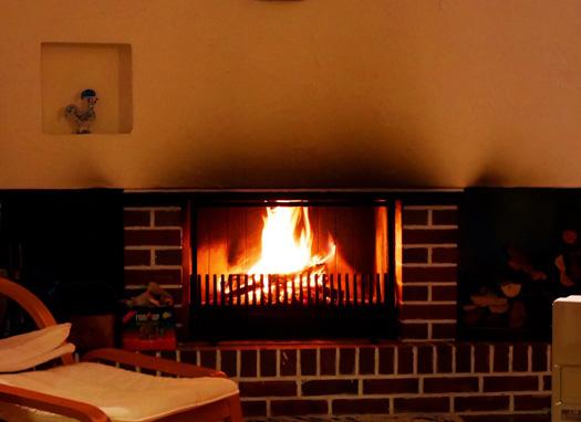 暖炉も!時間がゆっくり流れます